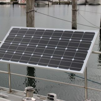 Solar Bracket for boat, sailboat railing & pulpit