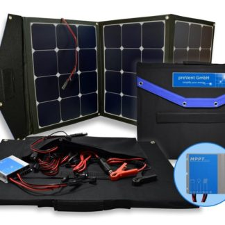 Foldable solar bag 120W12V, with MPPT Charge controller