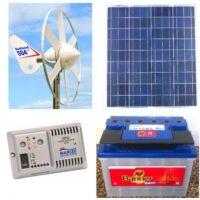 Hybrid 12V system, 50W solar, Rutland 504 wind turbine