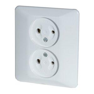 DC Flush Type Double Surface Socket 12 - 48 V