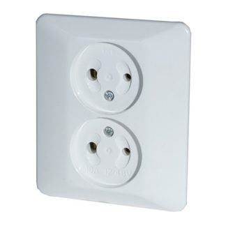 DC Flush Type Double Surface Socket 12 - 48 V