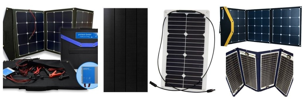 Solar module with frame and flexible