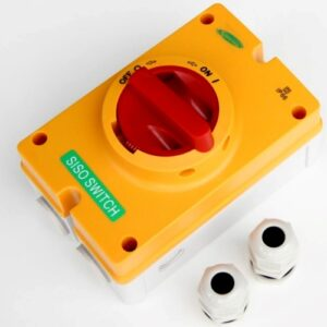 Switch 230 415V AC, 32A, 4P, M25