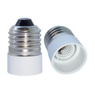Base Adapter E27 to E14 - White