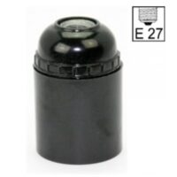 Lamp Screw Socket E27, Black