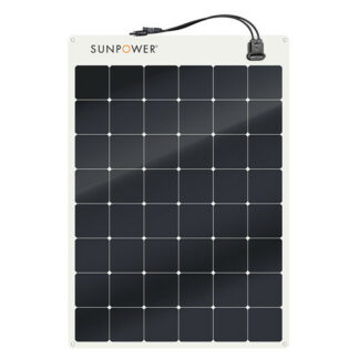 Semi Flexible solar panel Sunpower SPR-E-Flex 170_6X8 for boat, caravan