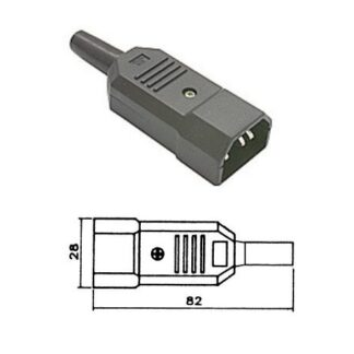 IEC C14 EURO MAINS POWER IN-LINE PLUG