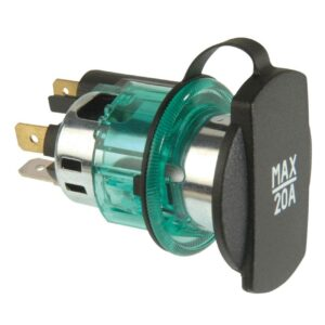 Cigarette Lighter Power Socket Adapter Green