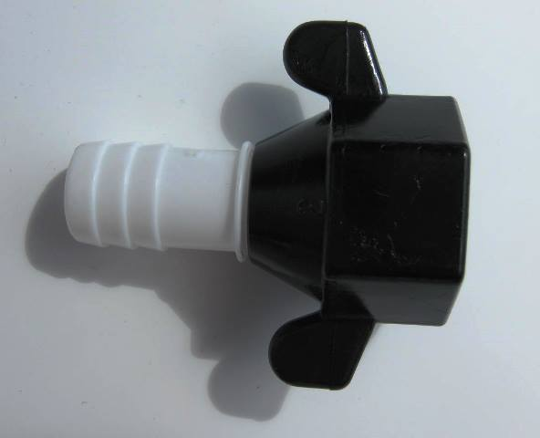 1/2 inch Barb Straight Wingnut- Pump SHURflo