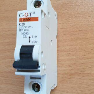 C-Q-T C60N Circuit Breaker C10, 10A, 1 pole