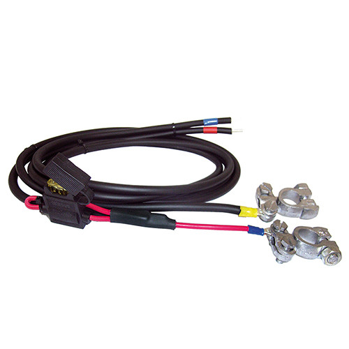 Battery Cable With Fuse & Clamps 1,5m Plus & minus