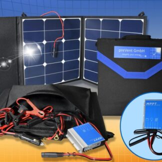 Foldable solar bag 50W12V, with MPPT Charge controller