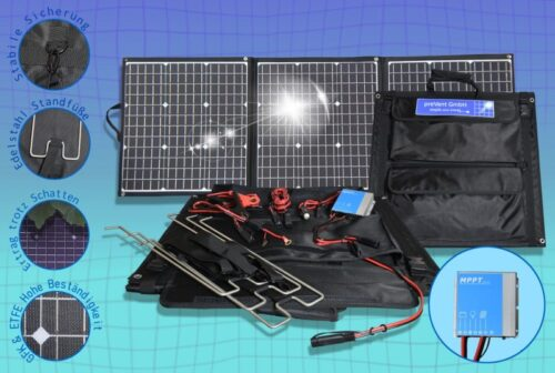 Foldable solar bag EFTE 135W