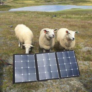 Solenergipaket fällbara 12V,  60-300W