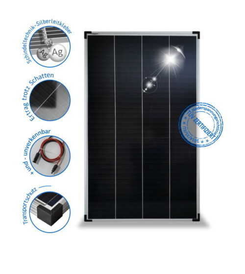 150W12V Solar module PV-150-M-36SH, monocrystalline , Schindel